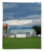 Verdant Farmland Fleece Blanket