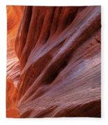 Vermilion Canyon Walls Fleece Blanket