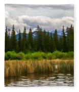Vermilion Lakes Fleece Blanket