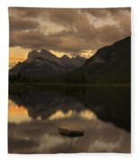 Vermillion Lake Sunset Fleece Blanket