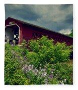Vermont Covered Bridge Fleece Blanket