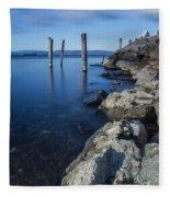Vermont Lake Champlain Sunrise Burlington Fleece Blanket