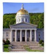 Vermont State Capitol In Montpelier  Fleece Blanket