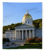 Vermont State House Fleece Blanket