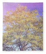 Vermont Tree Light Leak Sunflare  Fleece Blanket