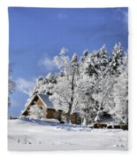 Vermont Winter Beauty Fleece Blanket