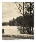 Vermont Winterland Fleece Blanket