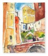 Vernazza In Italy 02 Fleece Blanket