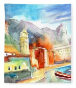 Vernazza In Italy 07 Fleece Blanket