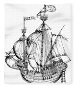 Verrazzano's Ship Fleece Blanket