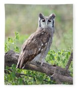 Verreauxs Eagle-owl Bubo Lacteus Fleece Blanket