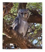 Verreauxs Eagle Owl In Tree Fleece Blanket