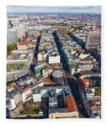 Vertical Aerial View Of Berlin Fleece Blanket