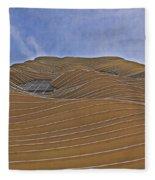 Vertical Dune - The Aqua Tower Fleece Blanket