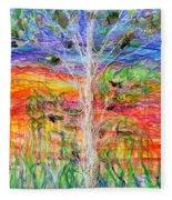 Vertical Space Fleece Blanket