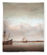 Verwer's View Of Hoorn Fleece Blanket