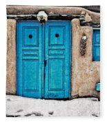 Very Blue Door Fleece Blanket