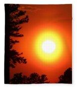 Very Colorful Sunset Fleece Blanket