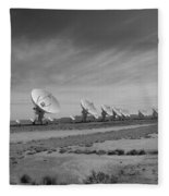 Very Large Array In Black And White Fleece Blanket