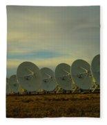 Very Large Array Near Socorro New Mexico Fleece Blanket