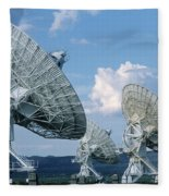 Very Large Array Of Radio Telescopes Fleece Blanket