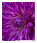 Very Pink Dahlia Fleece Blanket