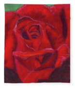 Very Red Rose Fleece Blanket