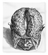 Vesalius: Brain, 1543 Fleece Blanket