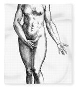 Vesalius: Female Nude Fleece Blanket