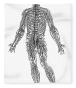 Vesalius: Nerves, 1543 Fleece Blanket