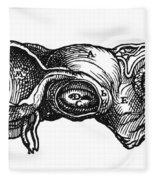 Vesalius: Uterus, 1543 Fleece Blanket