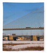 Veterans Glass City Skyway Pano Fleece Blanket