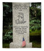 Veterans Memorial Fleece Blanket