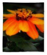 Vibrant Colored Zinnia Fleece Blanket