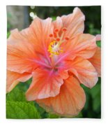 Vibrant Hibiscus Fleece Blanket