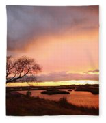 Storm At Dusk 2am-108350 Fleece Blanket