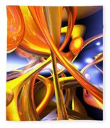 Vibrant Love Abstract Fleece Blanket