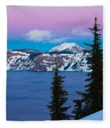 Vibrant Winter Sky Fleece Blanket
