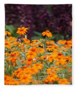 Vibrant Zinnias Fleece Blanket