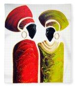 Vibrant Zulu Ladies - Original Artwork Fleece Blanket