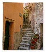 Vicolo Della Valle Riomaggiore Italy Dsc02537  Fleece Blanket