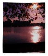 Victoria British Columbia Sunset Fleece Blanket