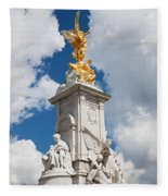 Victoria Memorial Next To Buckingham Palace London Uk Fleece Blanket
