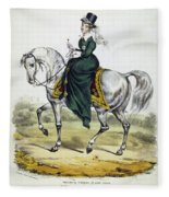 Victoria Of England, C1837 Fleece Blanket