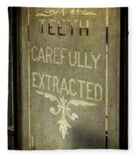 Victorian Dentist Sign Fleece Blanket