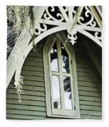 Victorian Gable St Francisville Louisiana Fleece Blanket