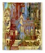 Victorian Home Dream Fleece Blanket