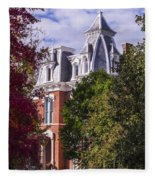Victorian Home In Autumn Photograph As Gift For The Holidays Print Fleece Blanket