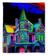 Victorian House Pop Art Fleece Blanket