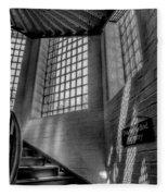 Victorian Jail Staircase V2 Fleece Blanket
